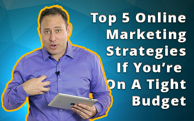 Many small to medium business owners understand there are opportunities to growing business online but don't have the budget to invest. Like many areas of business, if you simply think outside the box there's always opportunity hiding if you're prepared to turn over a few rocks to look for it. In today's session we cover the top 5 online marketing strategies if you're on a tight budget and how ANYONE can use them to get a ROI for your online marketing efforts.